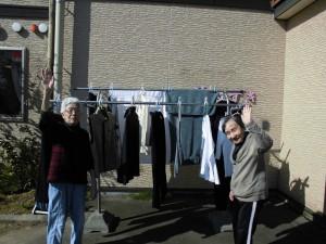 GH洗濯干し「早く乾いてね」