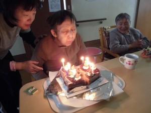 GH誕生会「長生きするもんだね~」