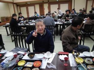 昼食、布川さん