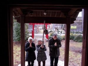 GH初詣「島潟神社までお参りです」