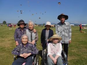 凧合戦「天気に恵まれました」