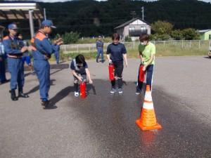 避難訓練「消火作業開始!」