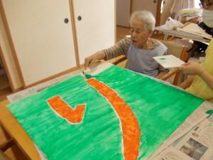 LC作業「看板作りしてます」