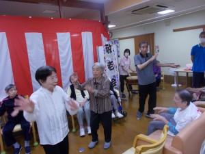 GH敬老会「下田盆踊りで締めくくりました」